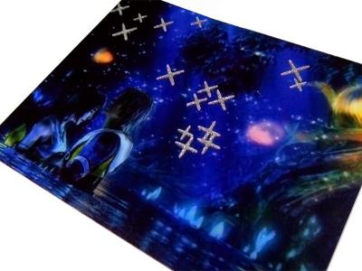 efekt brokatowania / nadrukowane gwiazdki